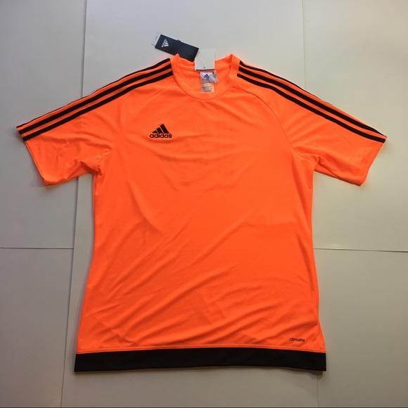 Adidas Climalite Neon Orange Soccer Shirt (Large)